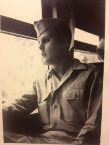 Dad WWII on bus